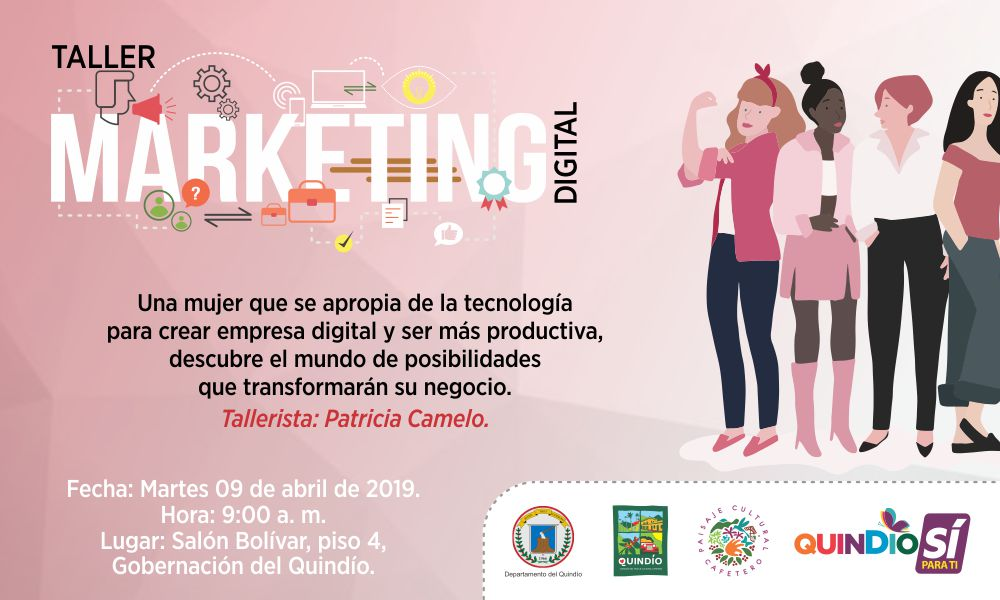 Taller de marketing digital para emprendedoras quindianas